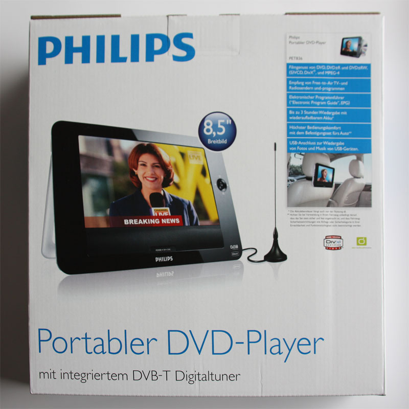 philips dvd und dvb t porty pet836 12 unterhaltung f r. Black Bedroom Furniture Sets. Home Design Ideas
